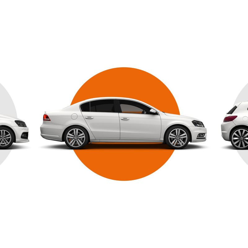 Volkswagen Approved used cars lined up