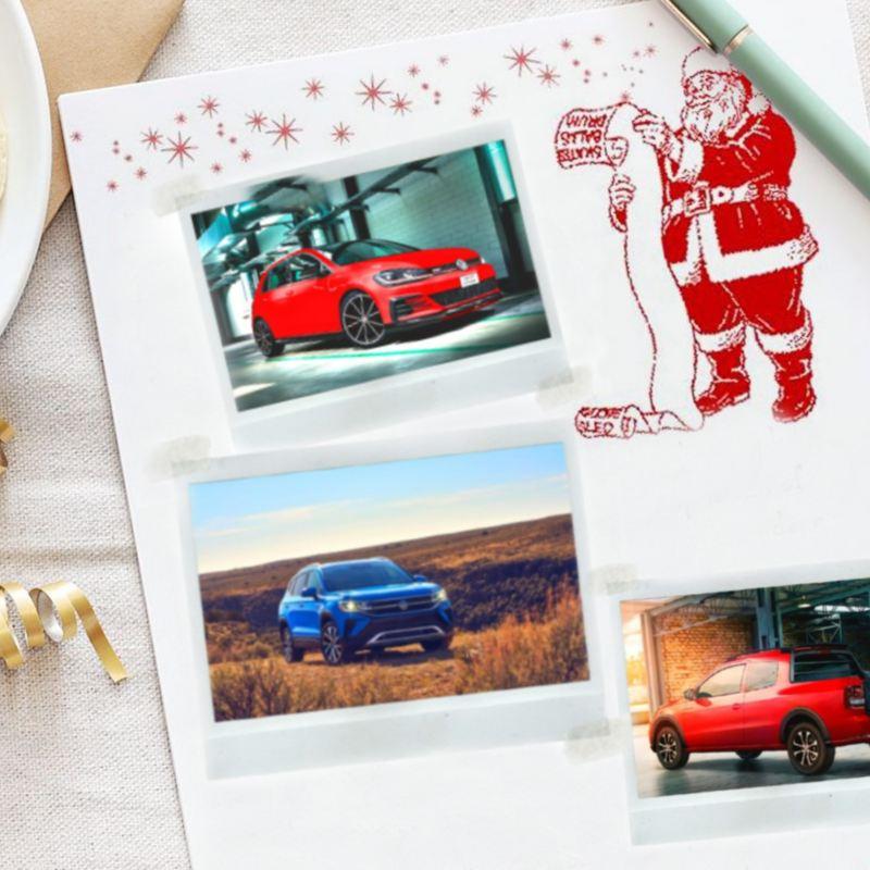 Carta a Santa para estrenar un auto nuevo Volkswagen en Navidad
