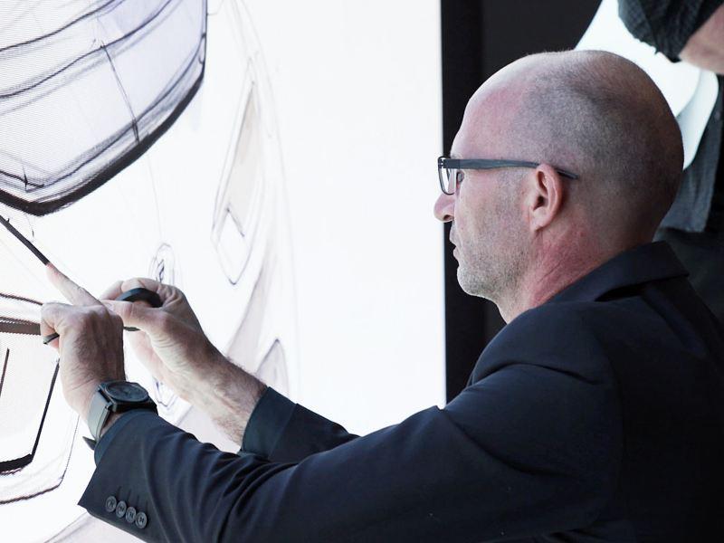 Klaus Bischoff designing the ID.3