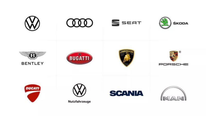 Volkswagen group brand logos