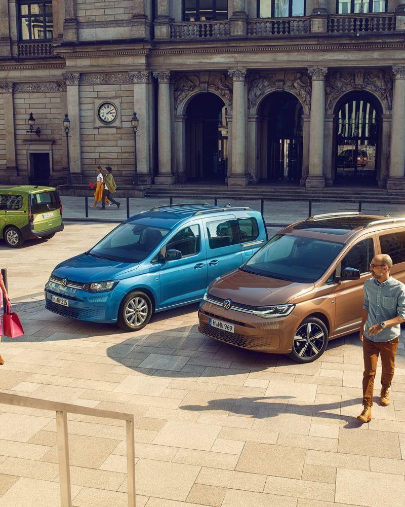 La nouvelle gamme Caddy, avec le Caddy, le Caddy Cargo et le Caddy California