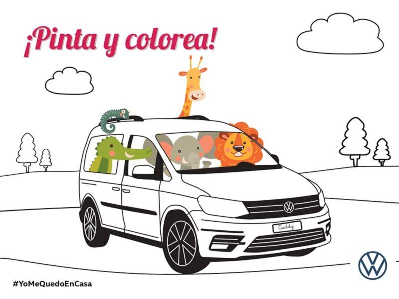 Colorea tu Caddy VW