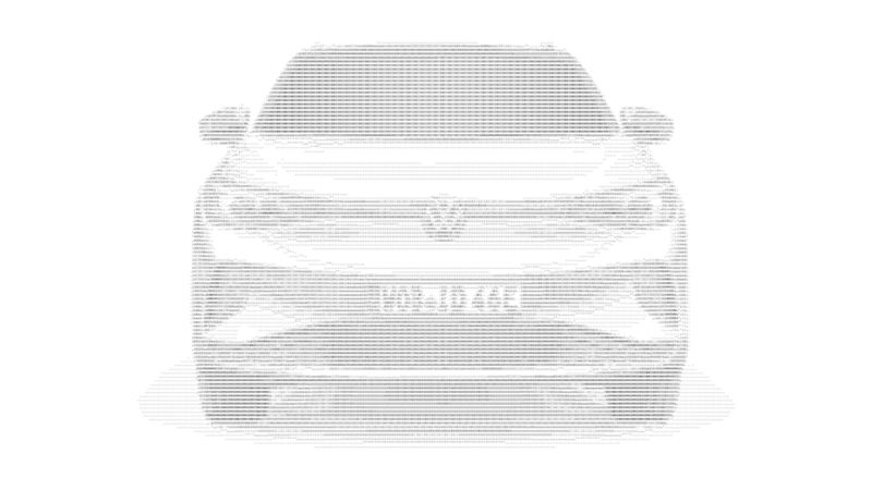 A Volkswagen vehicle made out of ASCII text