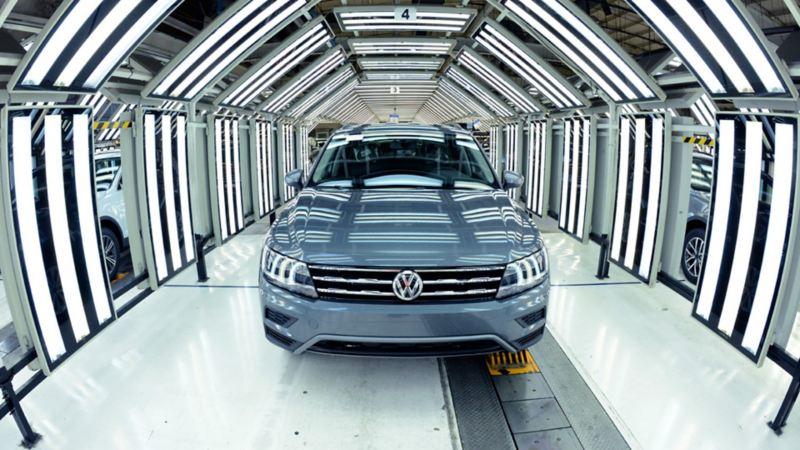 Carro siendo producido en Planta de Volkswagen México