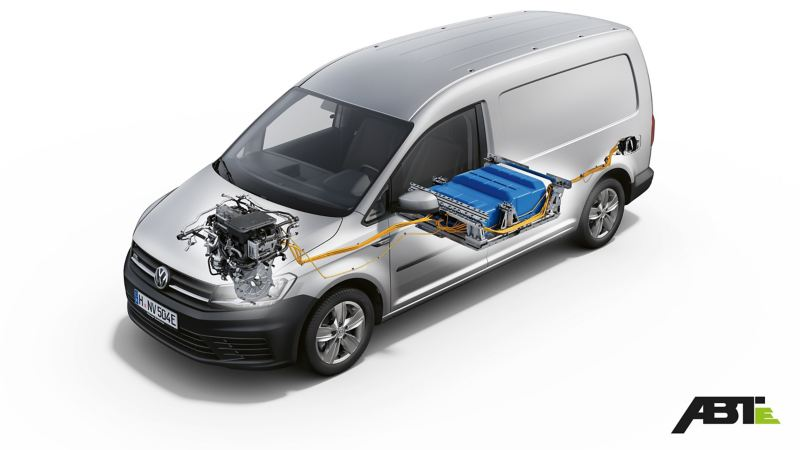 Teknisk översikt av ABT e-Caddy.