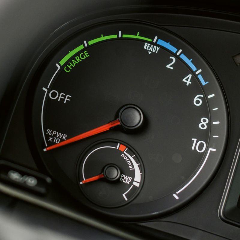 Affichage du niveau de charge de l'ABT e-Caddy.