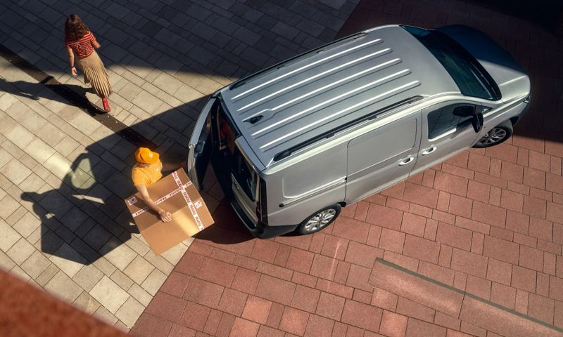 VW Caddy Cargo skåpbil från ovan
