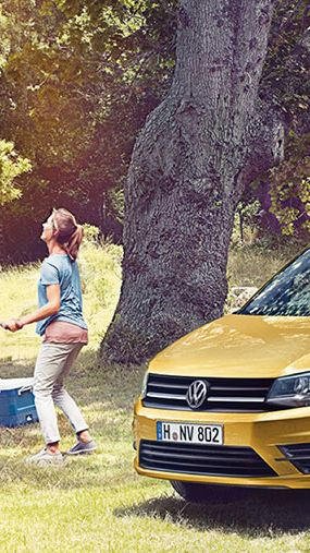 VW Caddy Life Yellow