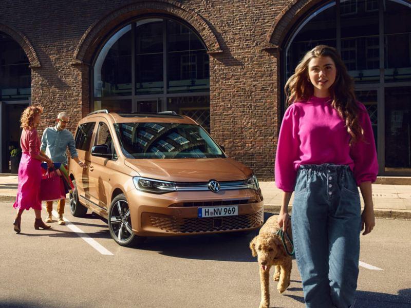 Il nuovo Volkswagen Caddy in veste di auto familiare.