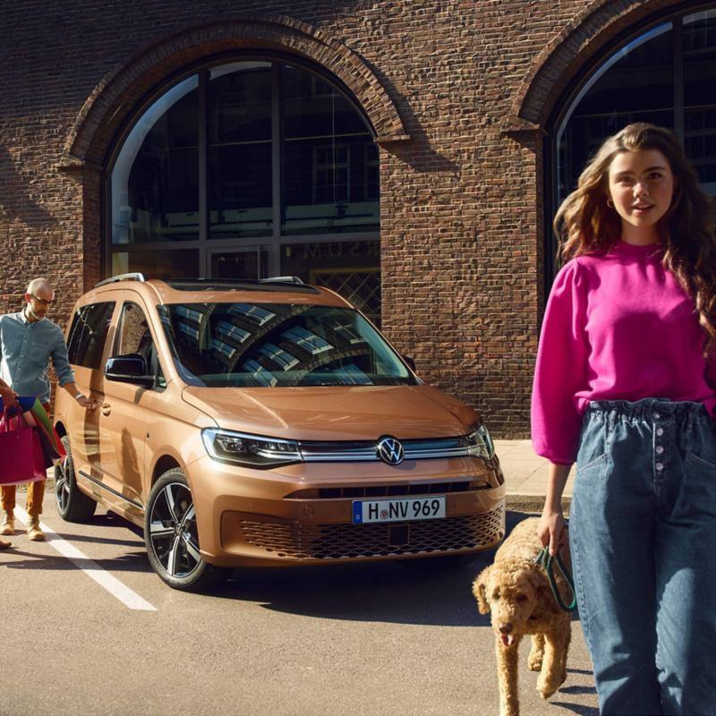 Le nouveau Volkswagen Caddy en tant que voiture familiale.