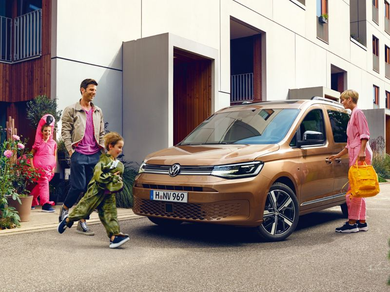 Der VW Caddy im Einsatz als Familienfahrzeug.
