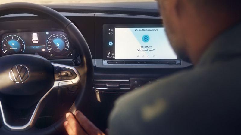 La commande vocale est activée sur l'écran de votre Volkswagen.