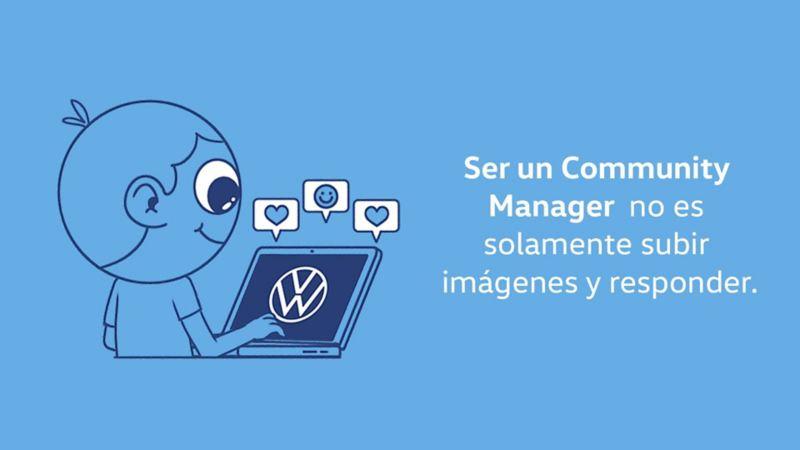 Community manager de Volkswagen manejando redes sociales de la marca