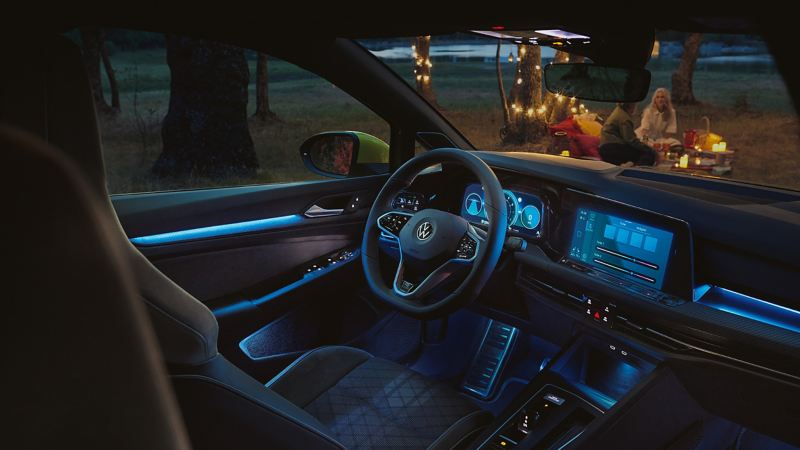 We Upgrade allows you to expand the selection of background lighting colours in your VW Golf 8.