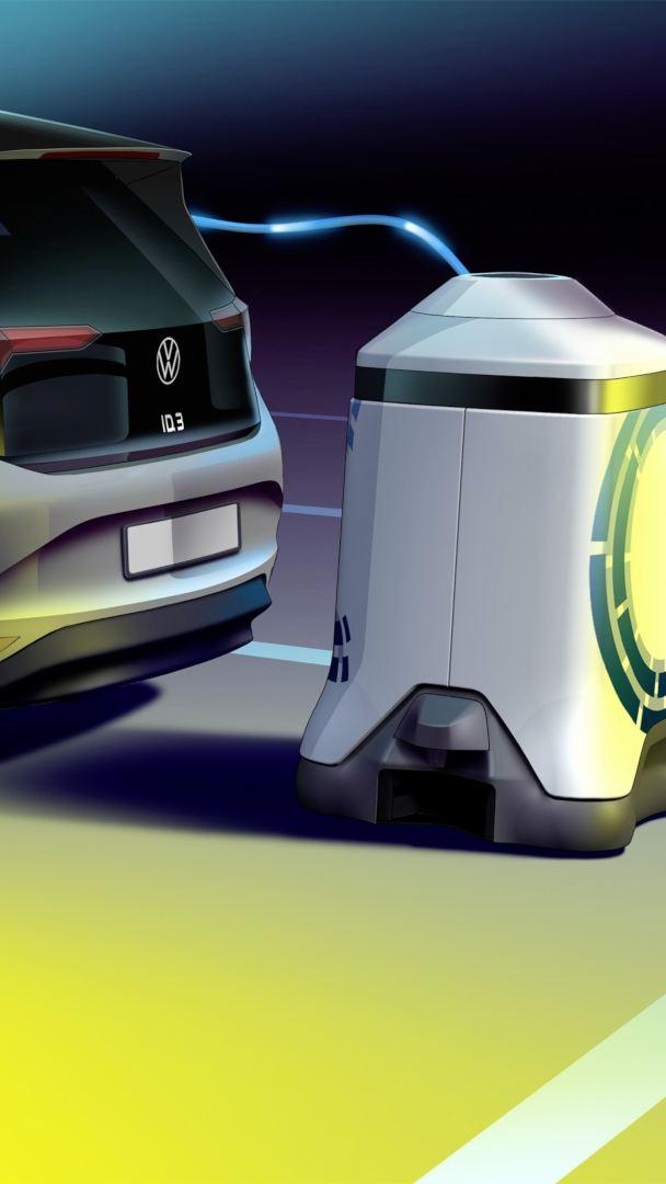 Rewolucja w garażu – Volkswagen prezentuje robota do ładowania akumulatorów