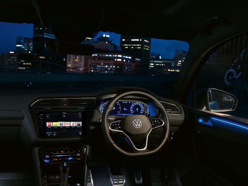 VW Tiguan with a digital cockpit