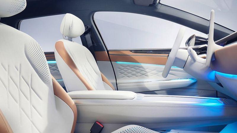 Diseño interior de ID. SPACE VIZZION de Volkswagen, el auto familiar eléctrico