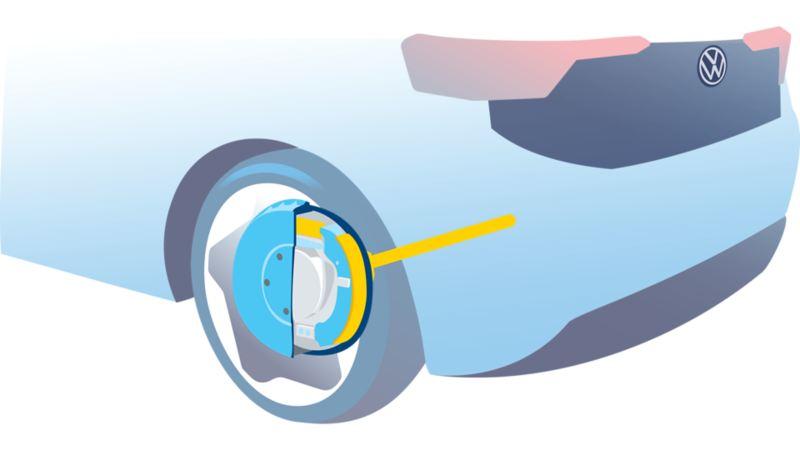 28 x 52 cm drum brake (11 inches) including light brake drum