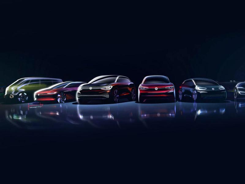 VW electric car family