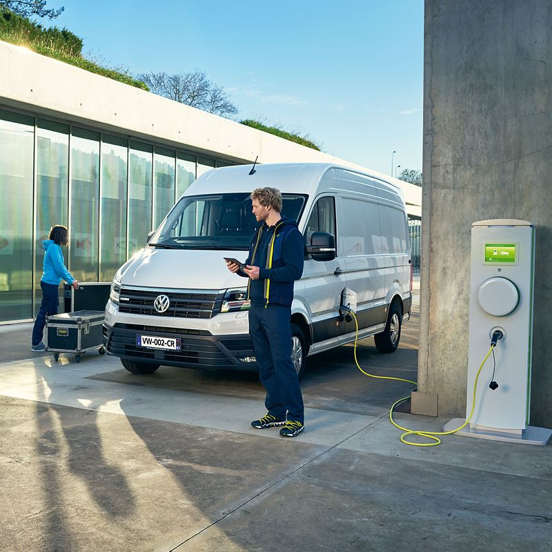 Volkswagen Véhicules Utilitaires e-crafter en charge
