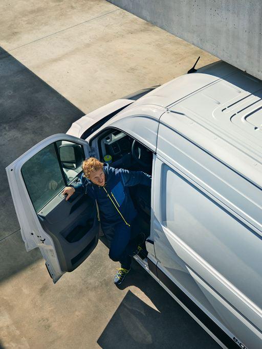 Leasing, billån, bilforsikring og biladministrasjon av varebiler fra Volkswagen Nyttekjøretøy e-Crafter elektrisk
