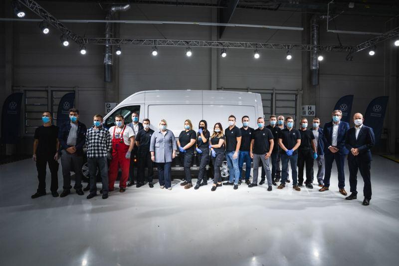 Pracownicy Fabryki Volkswagena we Wrześni