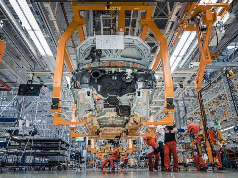 Wnętrze Fabryki Volkswagena we Wrześni