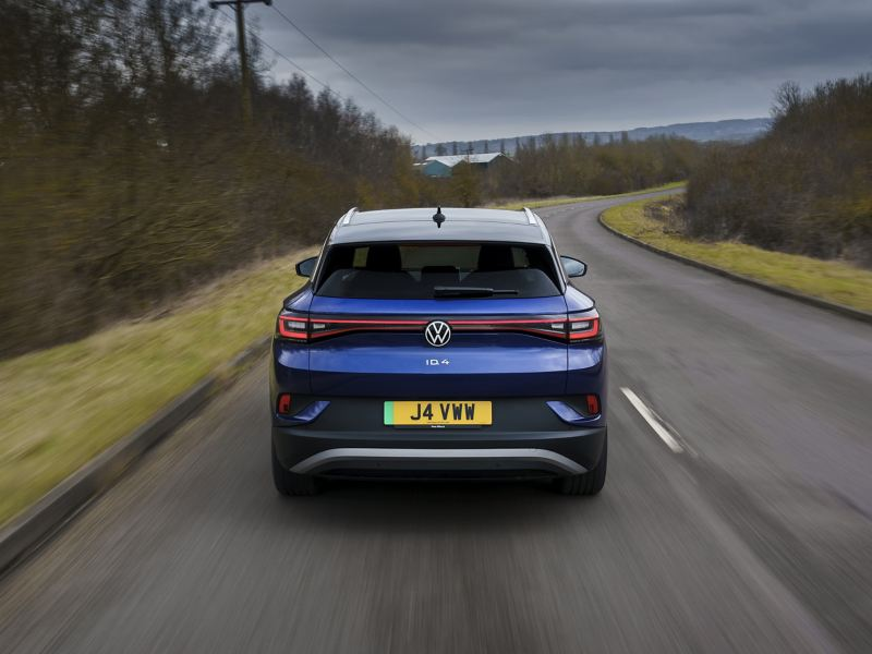 Volkswagen ID.4 driving along a country road