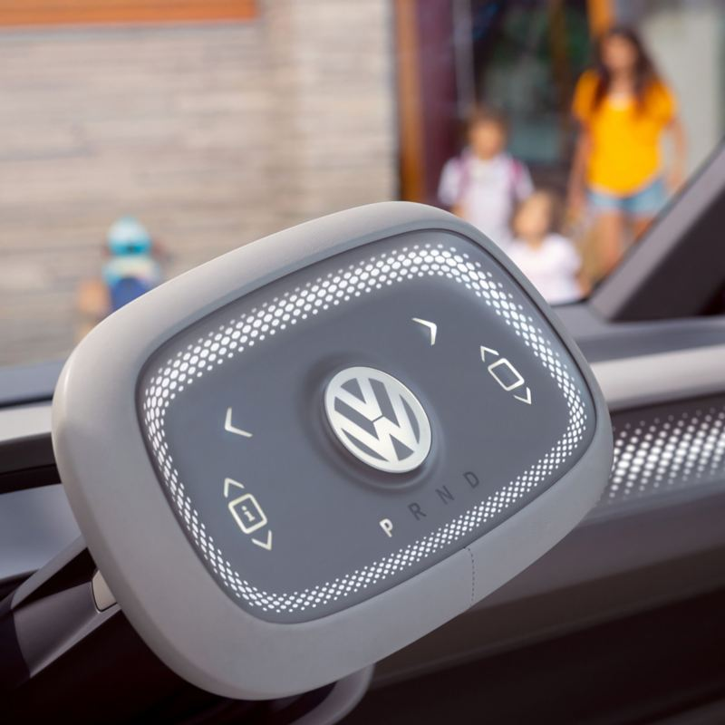 Touchpad steering wheel of the ID. Buzz