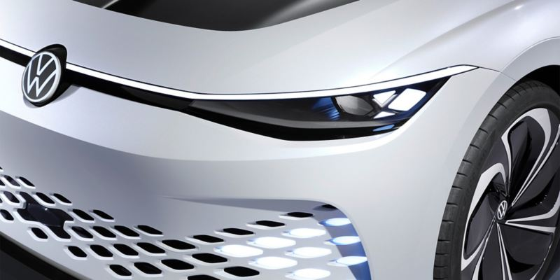 Front view of the Volkswagen ID. SPACE VIZZION