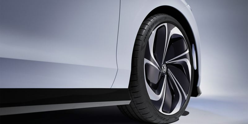 Alloy wheels of a Volkswagen ID. SPACE VIZZION