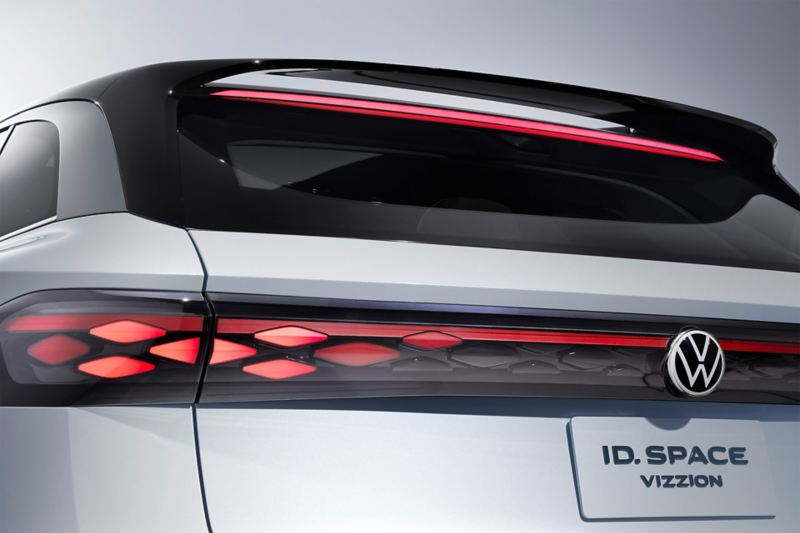 Lights at the back of a Volkswagen ID. SPACE VIZZION