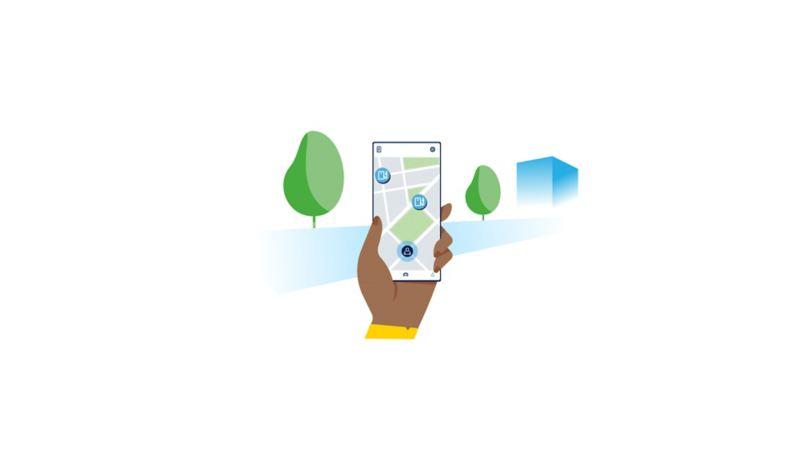 Ilustração no Smartphone do We Charge