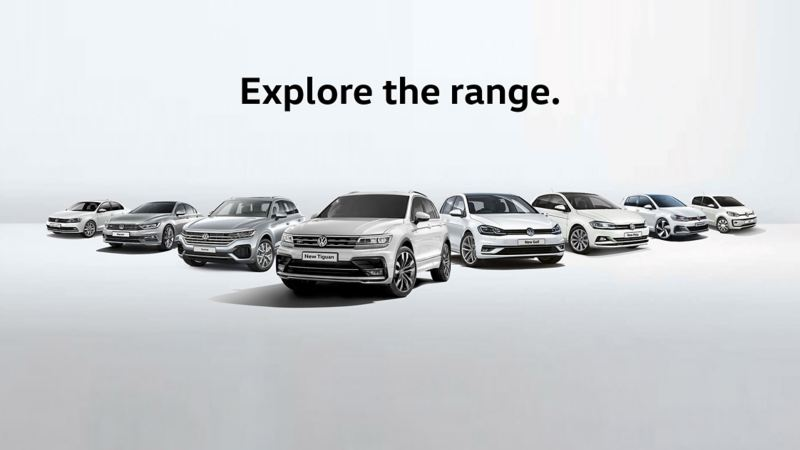 Explore the volkswagen range