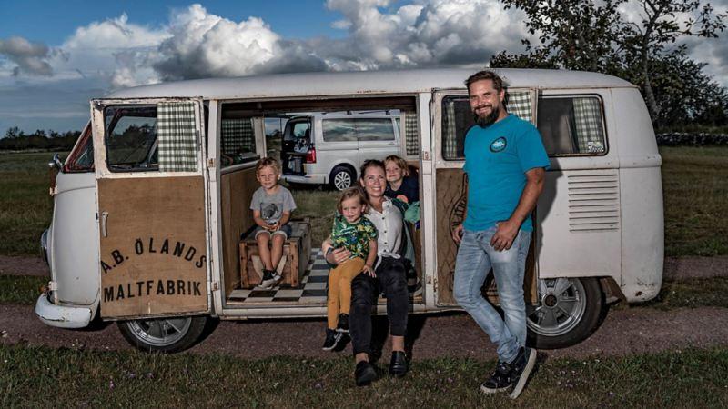 Folkabuss VW Transporter 1964 och familjen Wikell