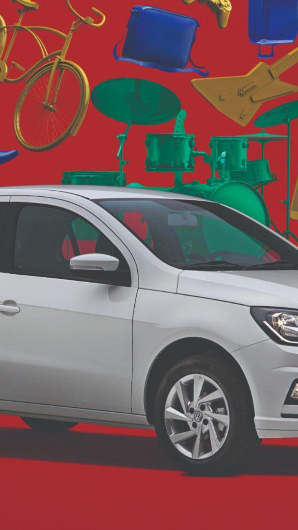 Gol Edición Aniversario de Volkswagen en color blanco