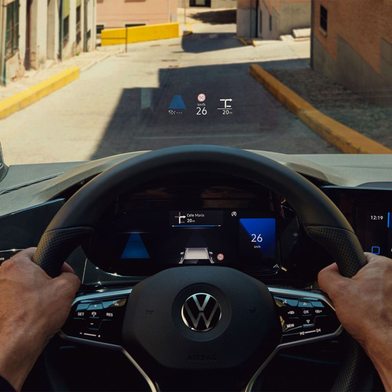 VW Golf with Head-up-Display