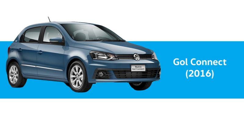Gol Connect de Volkswagen, año 2016 en color azul