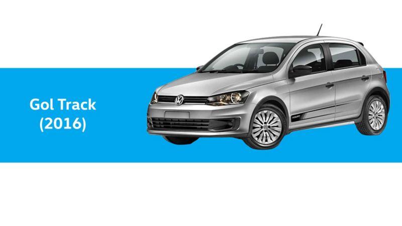 Gol Track de Volkswagen en color plateado