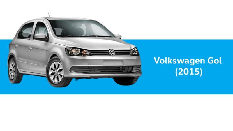 Gol Volkswagen, año 2015 en color plateado