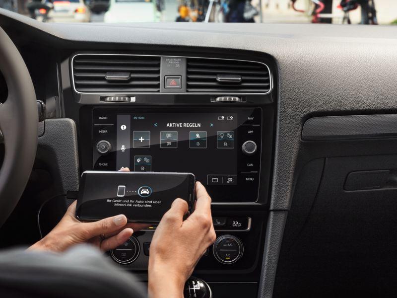Phone connectivity in the Volkswagen Golf