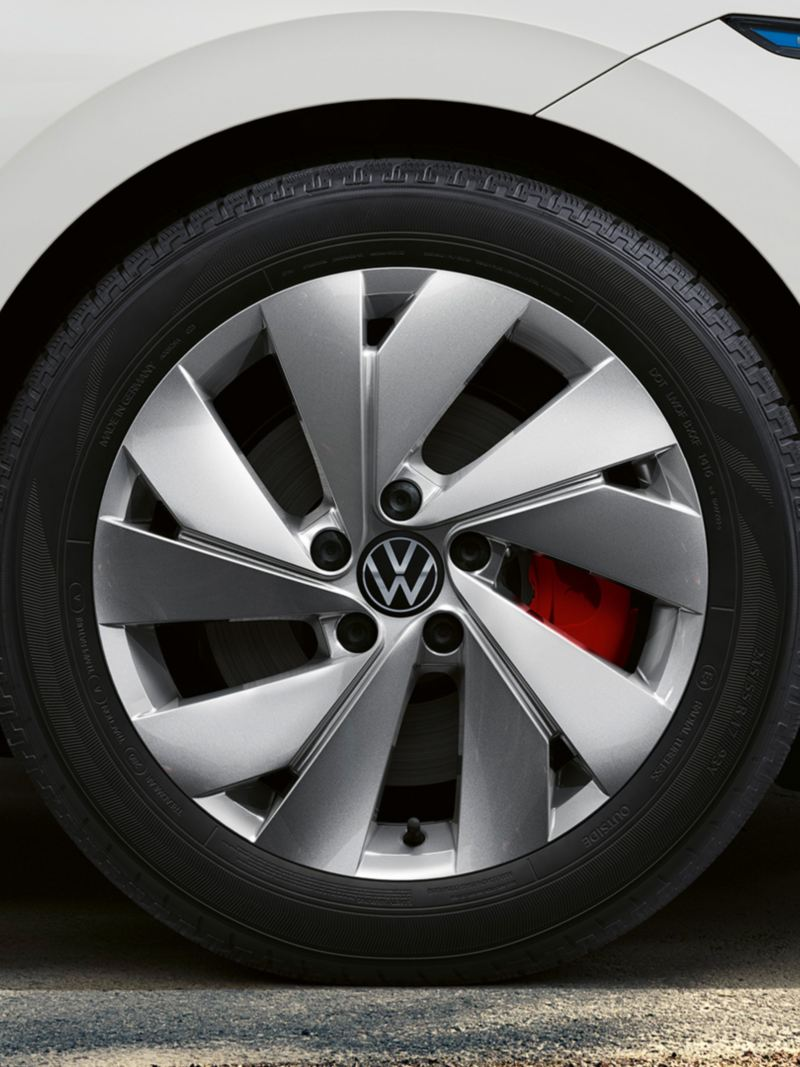 Close up of wheel of Golf GTE