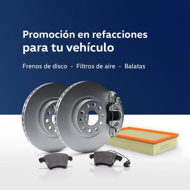 Promoción en pastillas y discos para frenos vehículos comerciales Volkswagen
