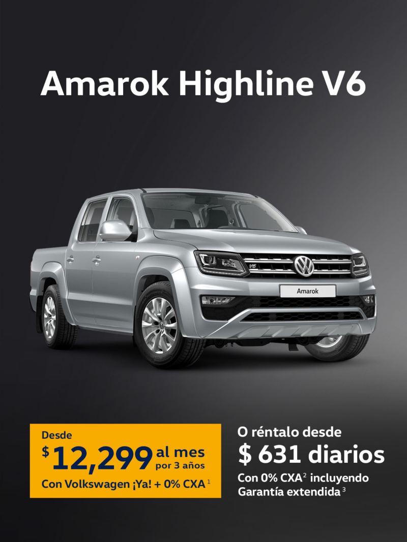 Mensualidades VW Amarok Highline V6 2021