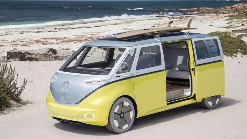 ID. Buzz, la Combi eléctrica de Volkswagen para 8 pasajeros, conducción autónoma y realidad aumentada