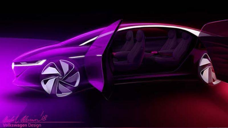 ID Vizzion - Auto eléctrico más innovador de la marca de autos alemana Volkswagen