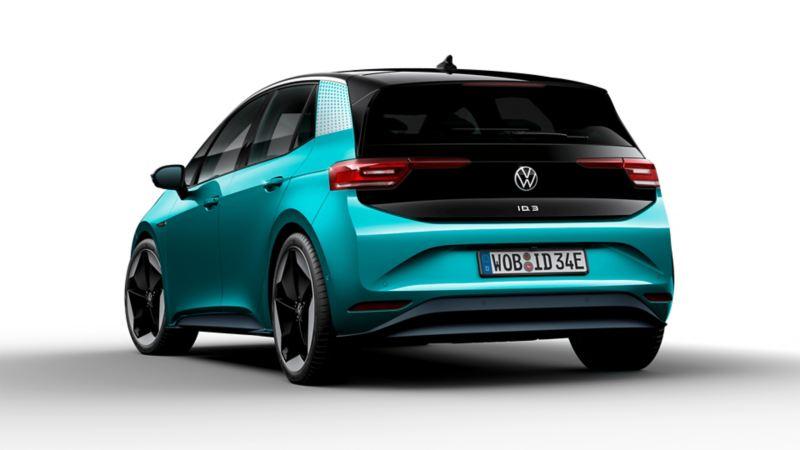 Vista 3/4 posteriore di Volkswagen ID.3