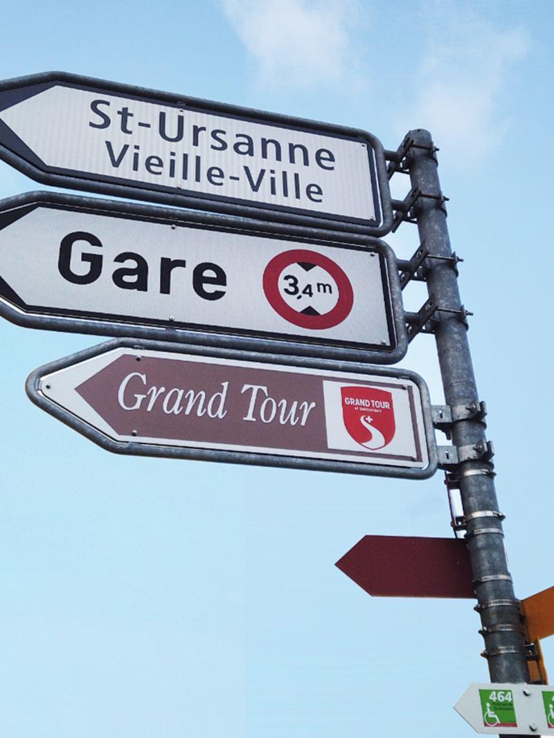 Der Wegweiser der Grand Tour of Switzerland