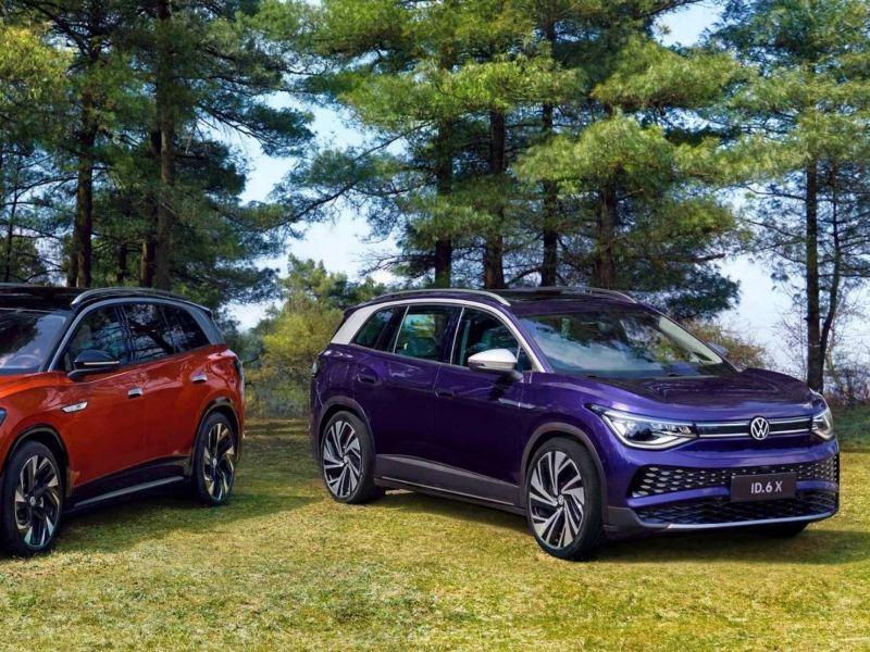 Imagen de las nuevas SUV eléctricas de Volkswagen ID.6