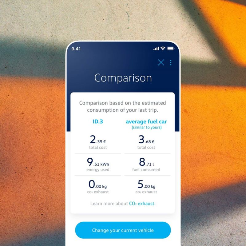 Illustration of compare your profile with the EV Check app